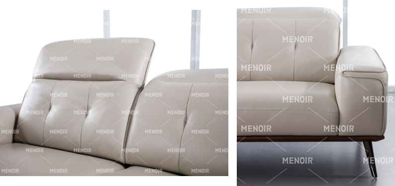 Menoir modern black leather recliner company for hotel-1