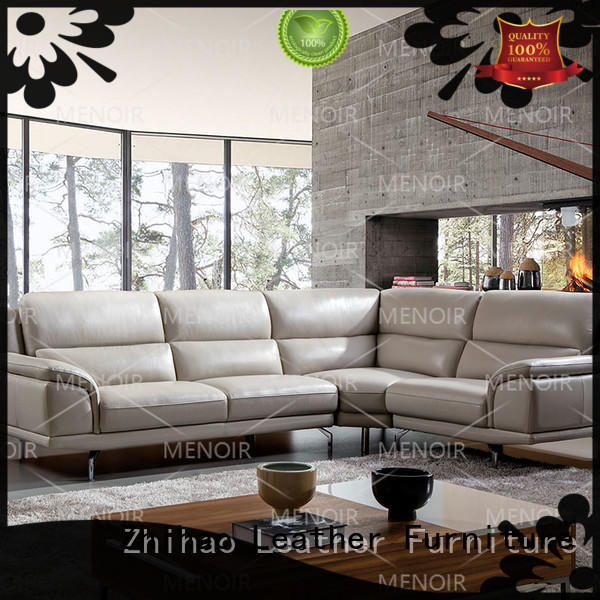 Zhihao color leather reclining sofa directly sale for hotel