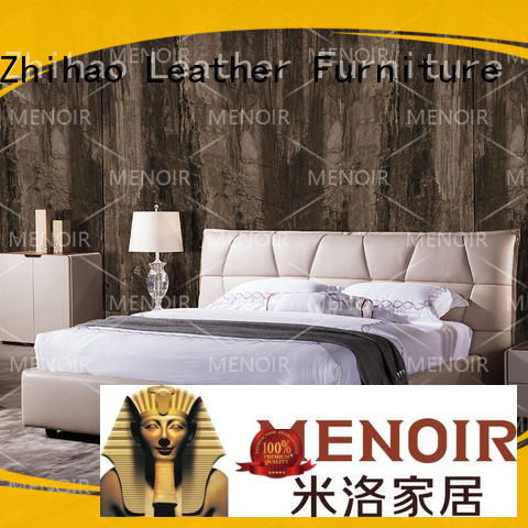 queen bed leather headboard knocked down for hotel Zhihao