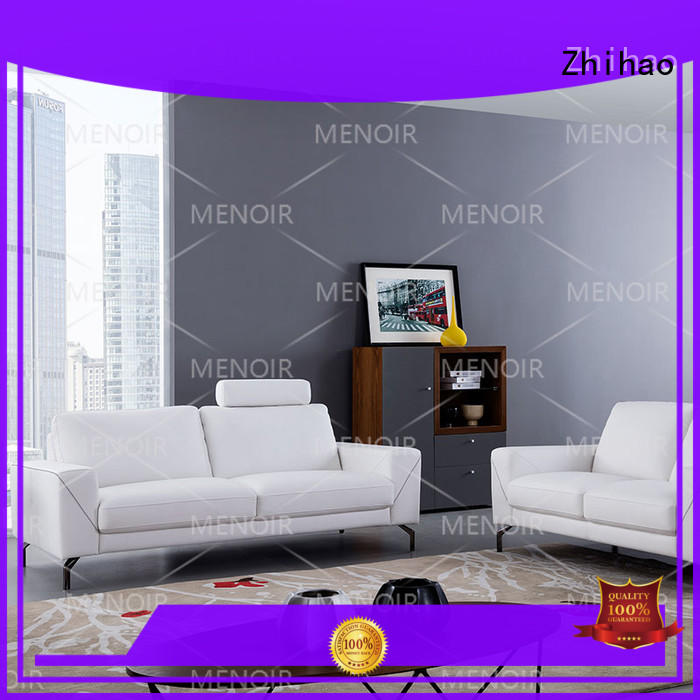 Hot contemporary black leather sofa special Zhihao Brand