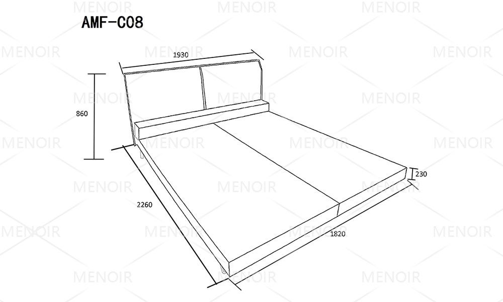 quality leather double bed with good price for promotion-8