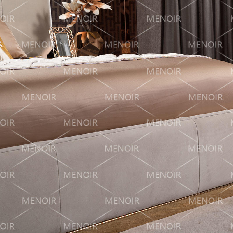 Menoir leather bed with royalty design AMJ-C01