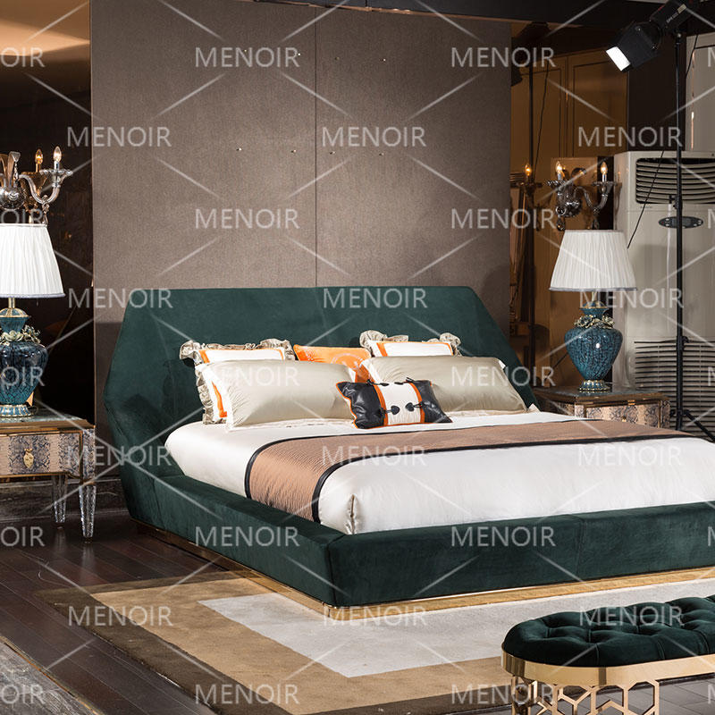 Menoir leather bed with luxury design AMJ-C02