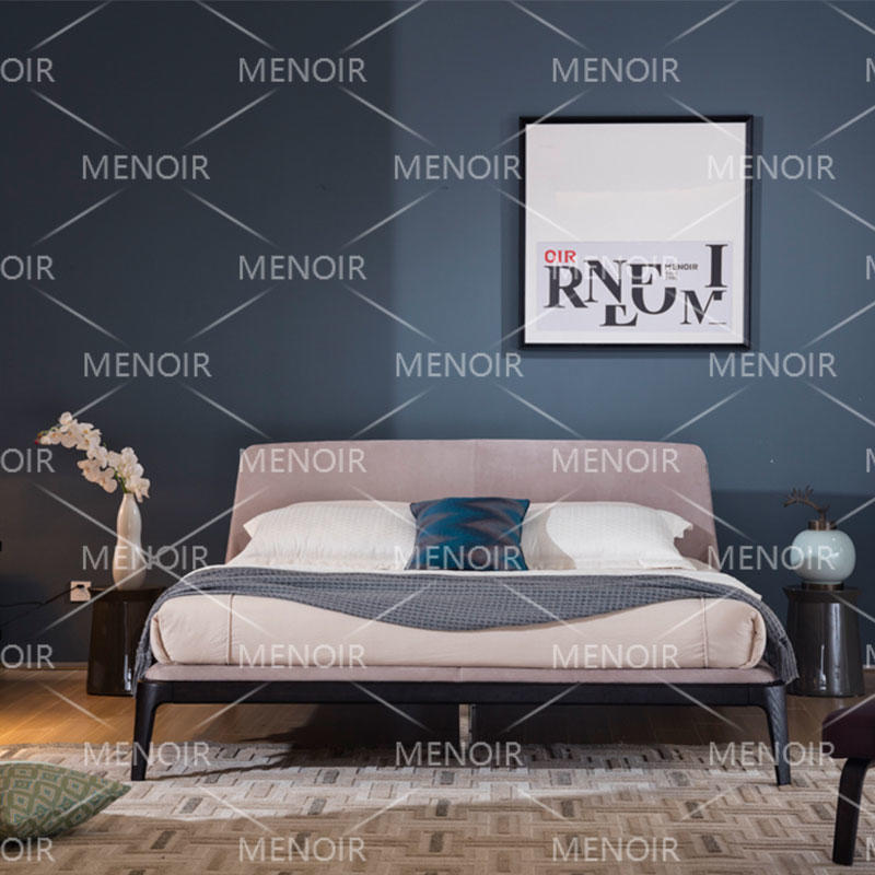 Menoir Fabric bed with solid wood underframe AMXD-C5003