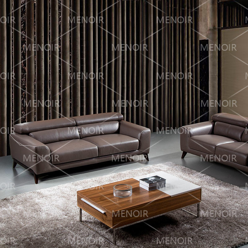 Menoir leather sofa with unique stiching  WA-S279