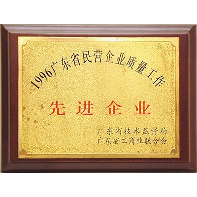96广东省质量先进企业