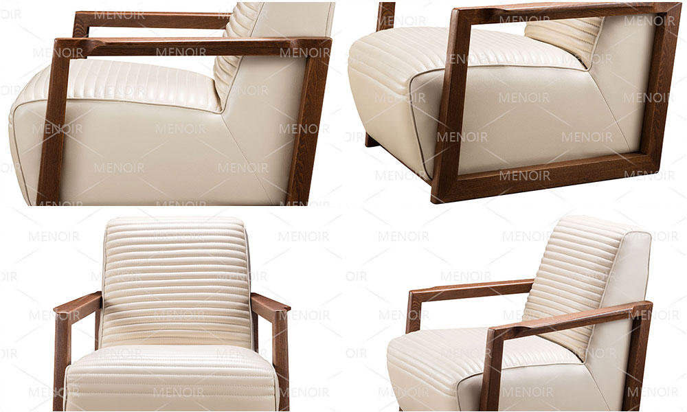 highback walnut doublecomfort Zhihao Brand modern leather armchair manufacture