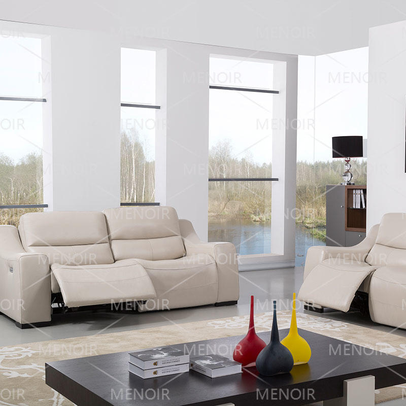 Menoir UK original design leather sofa with L&P brand power recliner WA-S185