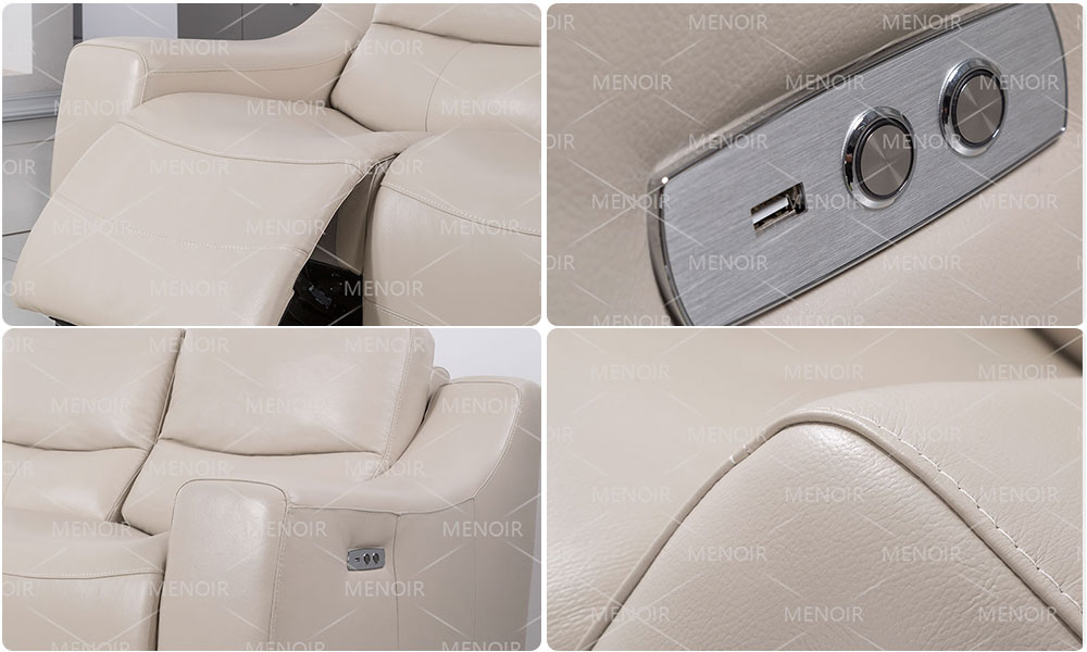 excellent leather look recliners with good price bulk production-1