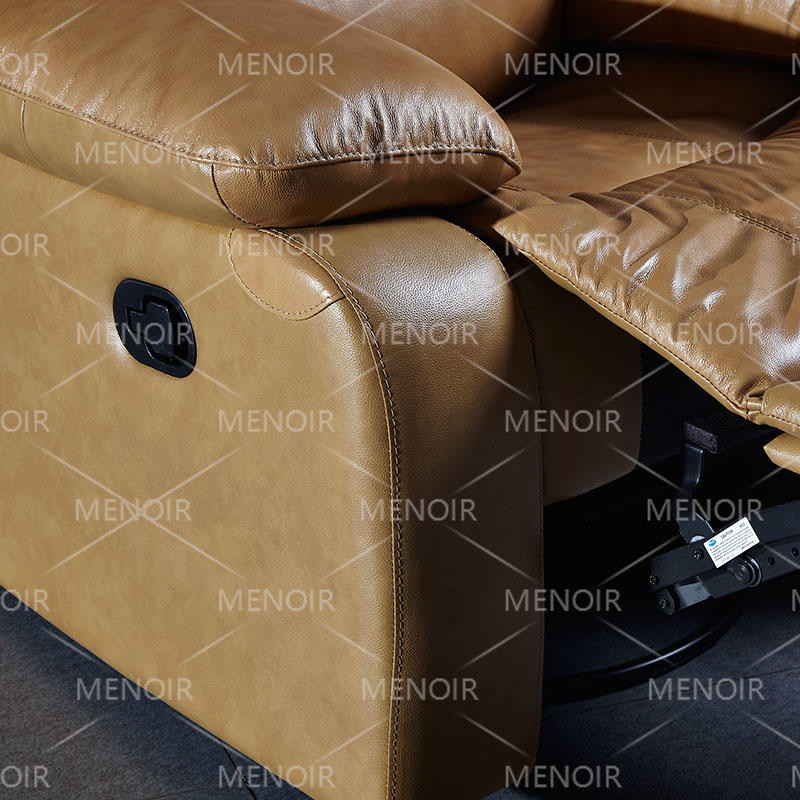 Menoir leather single chair with manual recliner HX02
