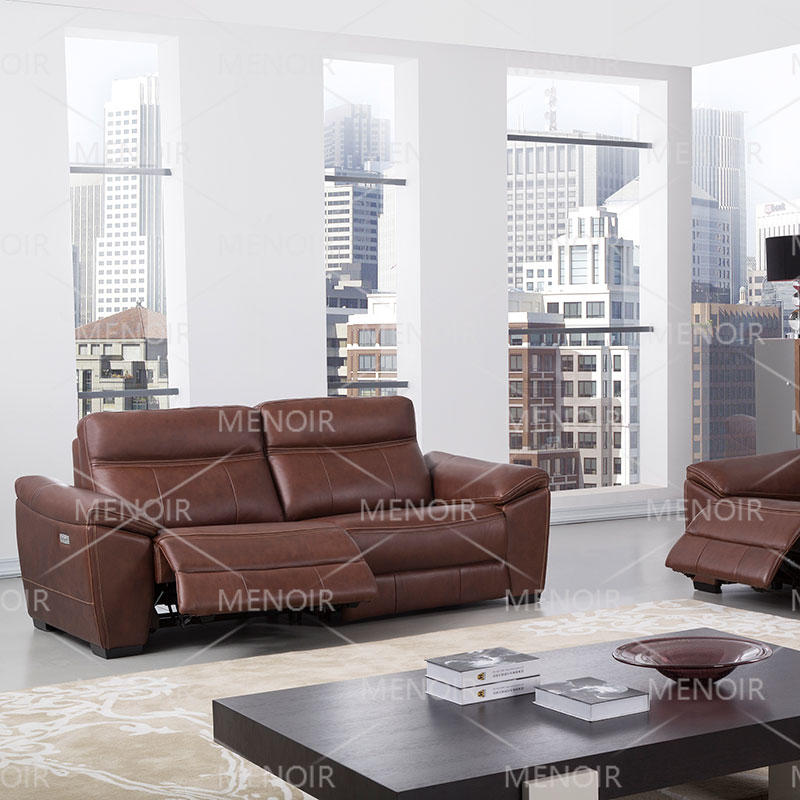 Menoir recliner leather sofa with power recliner WA-S189