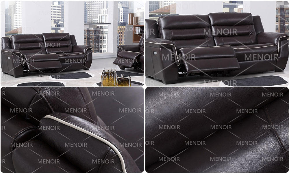 Menoir elegant all leather recliners inquire now for household