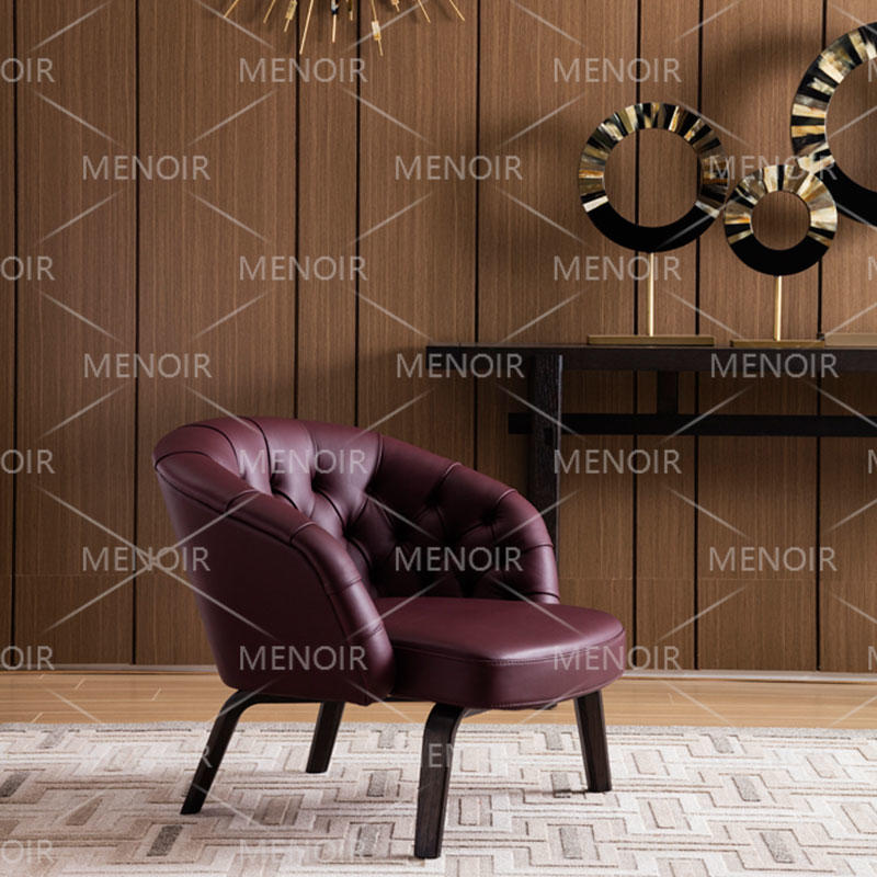 Menoir exquisite single chair with strong solid wood legs AMXD-DY5008