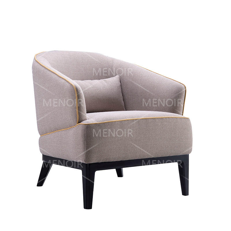 Menoir fabric chair with solid wood legs  WA-DY13