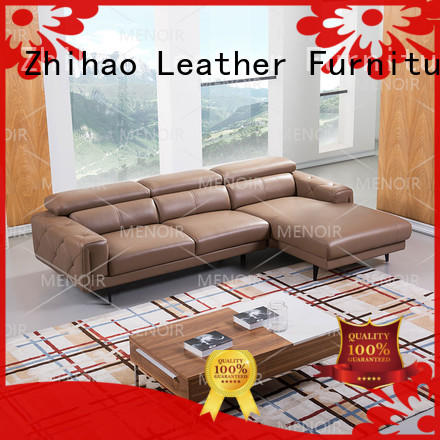 hot selling black contemporary leather sofa customized for household Zhihao