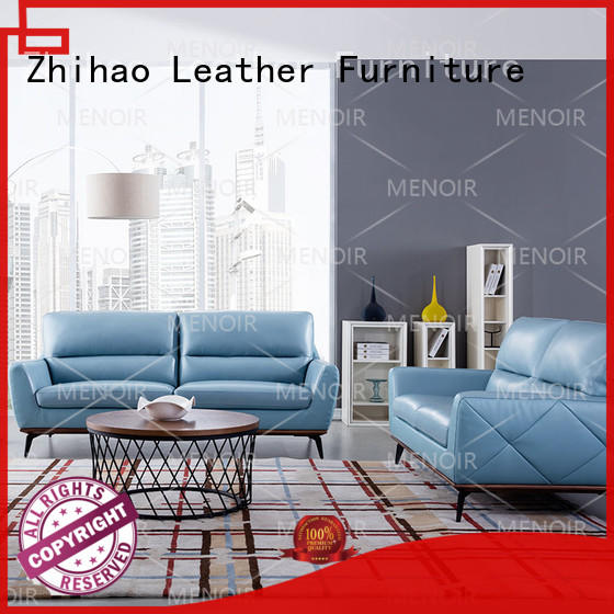 durable top grain leather sofa factory for household