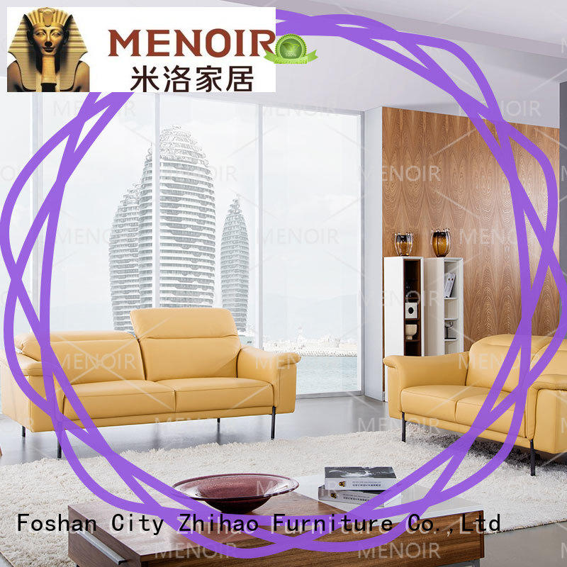 practical contemporary leather sofa factory direct supply for hotel