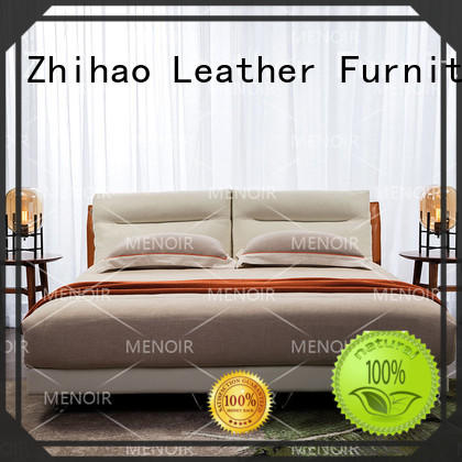 Menoir king size leather bed frame inquire now on sale