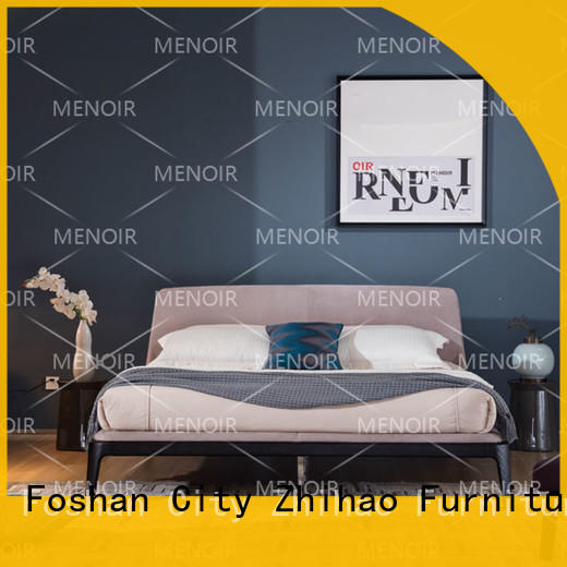 Menoir leather bed design with good price for promotion
