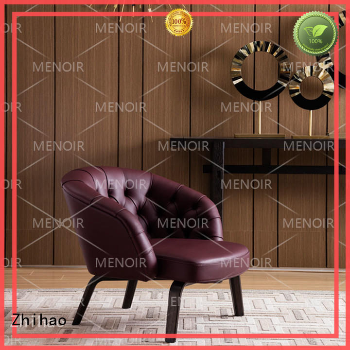 Zhihao professional contemporary leather accent chairs wholesale for hotel