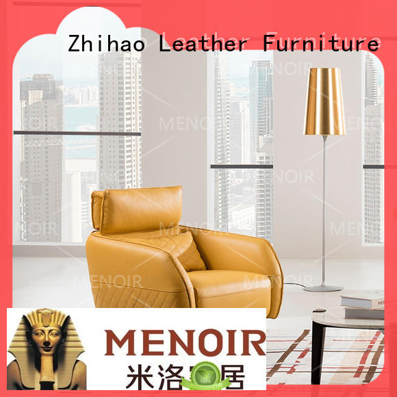 Zhihao certificated leather swivel armchair personalized for home
