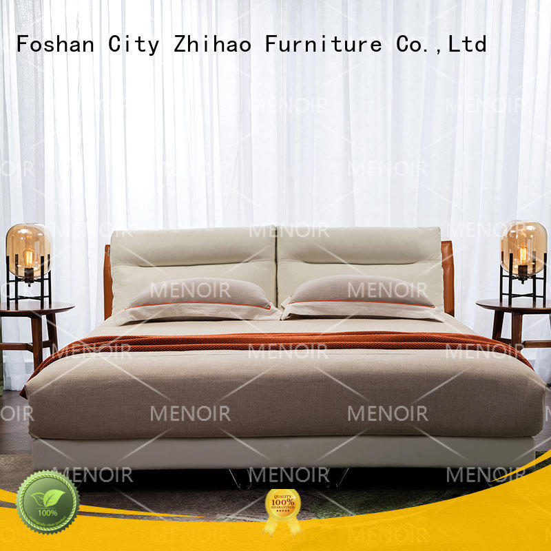 Menoir leather king size bed supplier for promotion