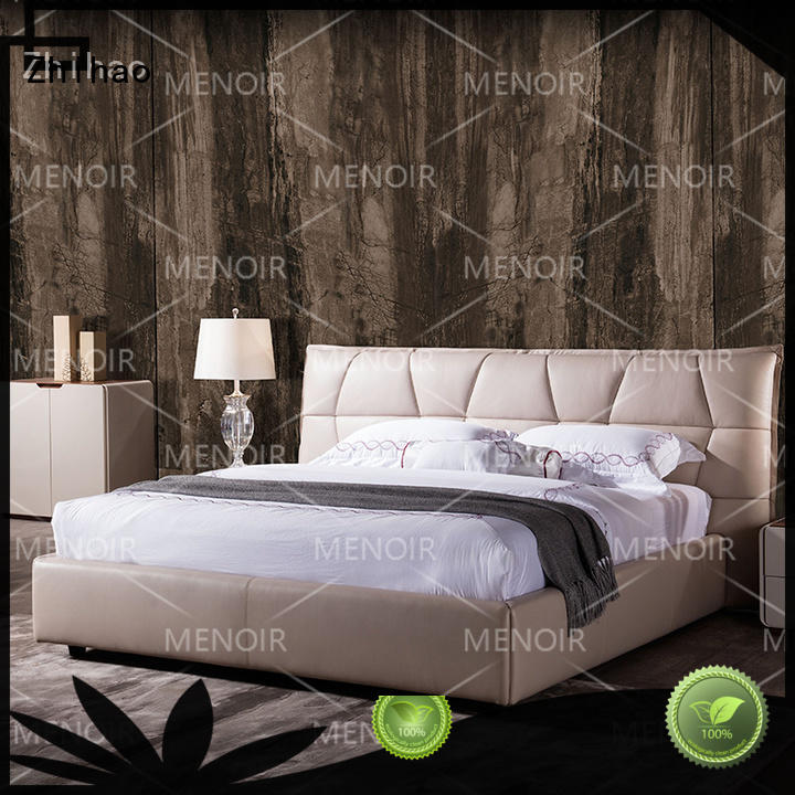 Zhihao durable leather bed design underframe for hotel