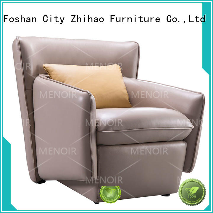 Menoir walnut leather arm chairs wholesale for home