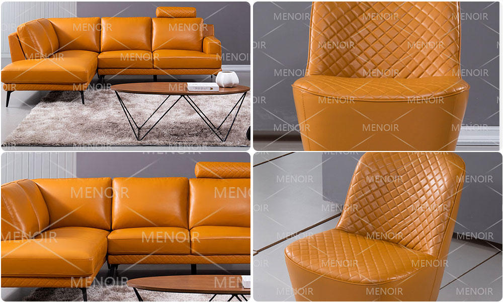 Menoir fabric light brown leather chair company bulk production-1