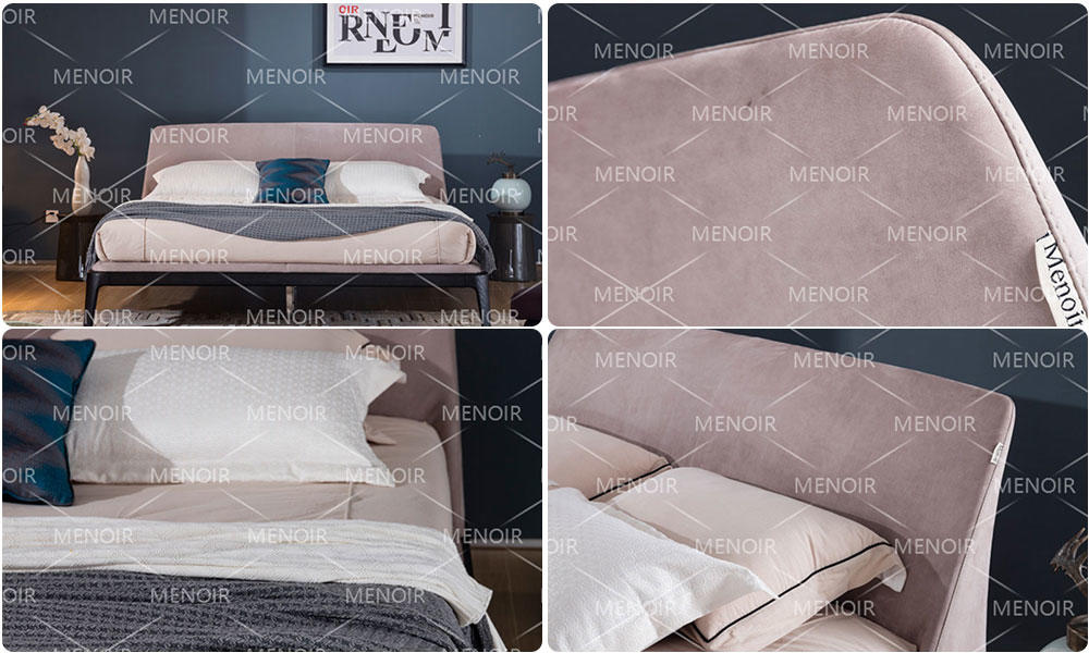 Menoir leather bed design with good price for promotion-1