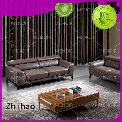 Hot leather sectional sofa unique Zhihao Brand