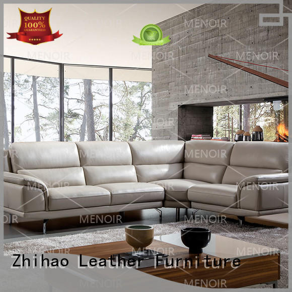 unique comfortable adjustable Zhihao Brand contemporary black leather sofa factory
