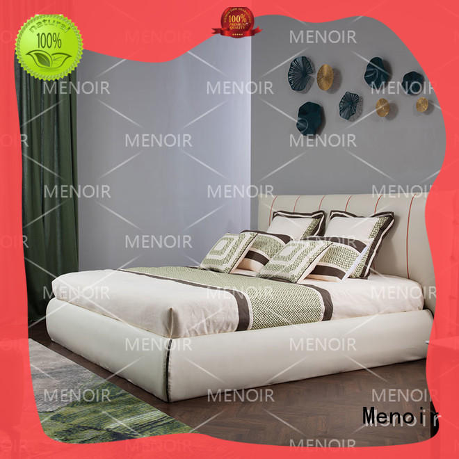 Menoir top quality platform bed with leather headboard factory direct supply on sale