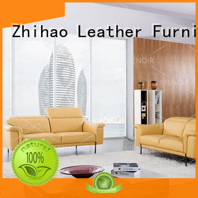 stitching comfortable Zhihao Brand contemporary black leather sofa factory