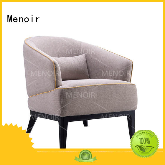 Menoir walnut oversized leather chair with good price for bedroom