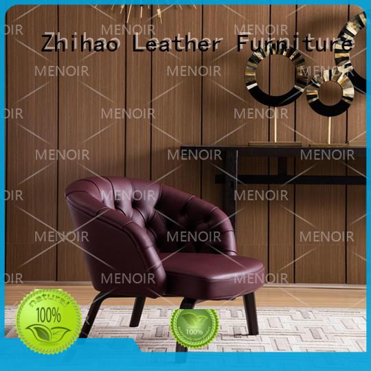 Menoir strong modern leather swivel chair manufacturer bulk production