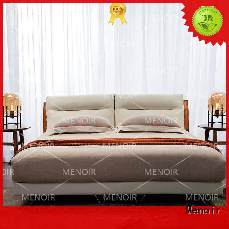 quality leather double bed with good price for promotion