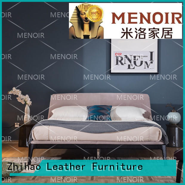 durable leather king size bed supplier for hotel