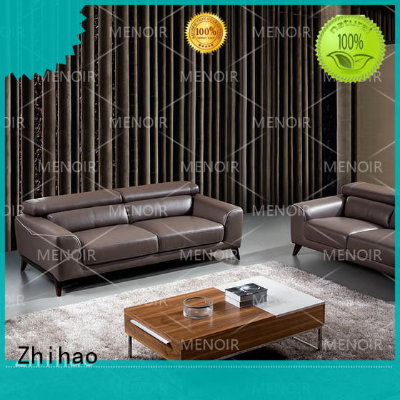 hot selling top grain leather sofa customized for hotel