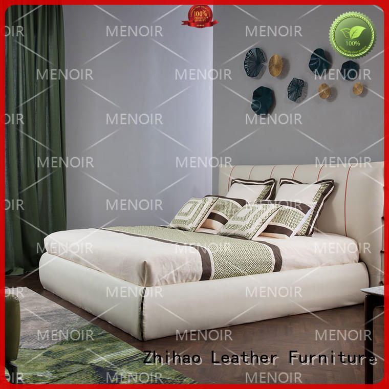 low-cost modern leather bed factory for promotion