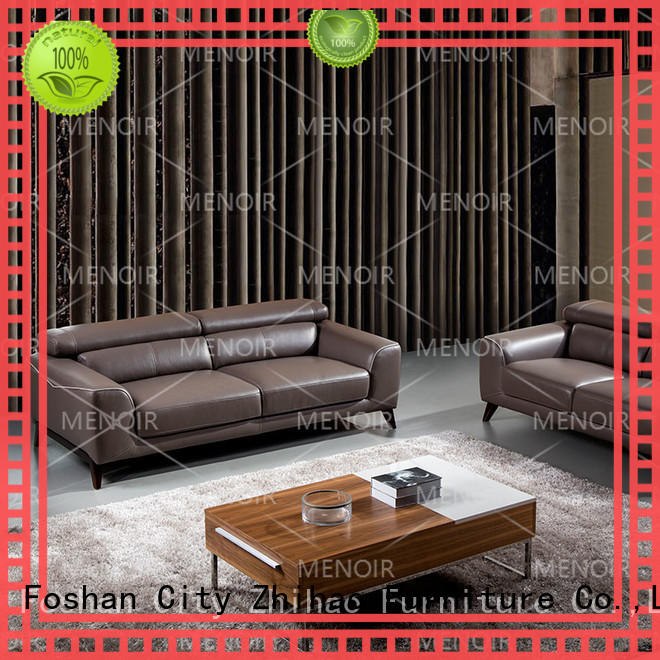 Menoir blue leather sofa factory direct supply on sale