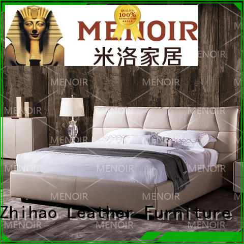 approved leather platform bed directly sale for promotion