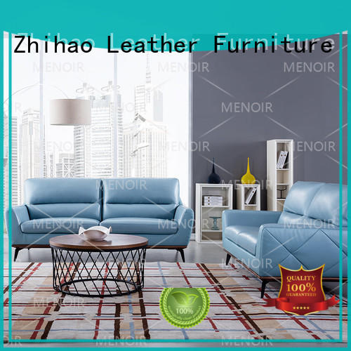 comfortable small modern leather sofa series for home Zhihao