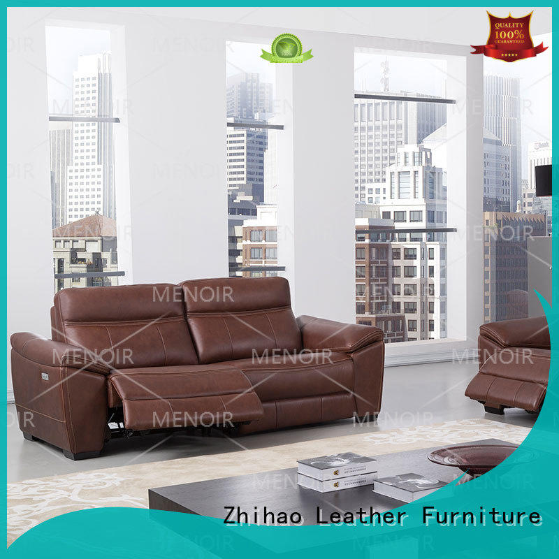 best value compact leather recliner from China for bedroom