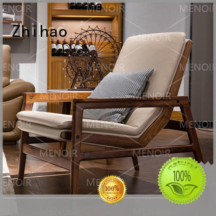 Zhihao quality leather swivel lounge chair factory price for household