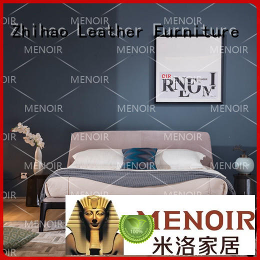 leather double bed frame royalty for household Zhihao