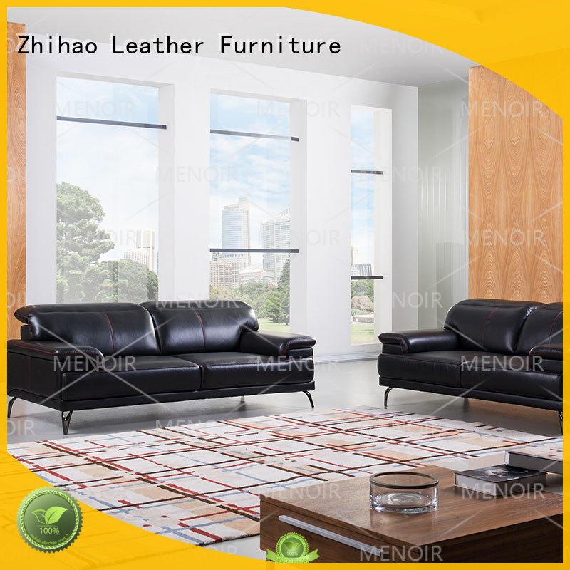nice contemporary black leather sofa color Zhihao company