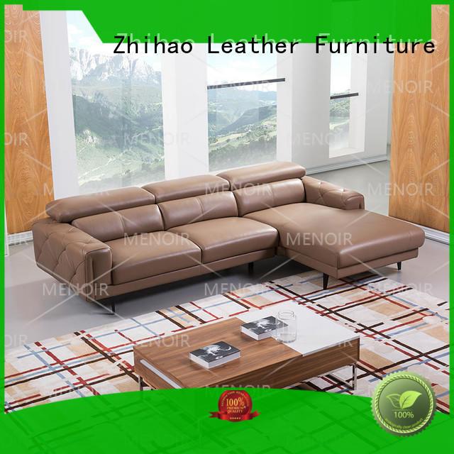 removable contemporary black leather sofa unique Zhihao company