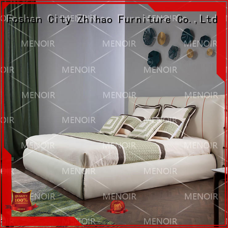 Menoir top selling leather bed frame king factory direct supply bulk buy