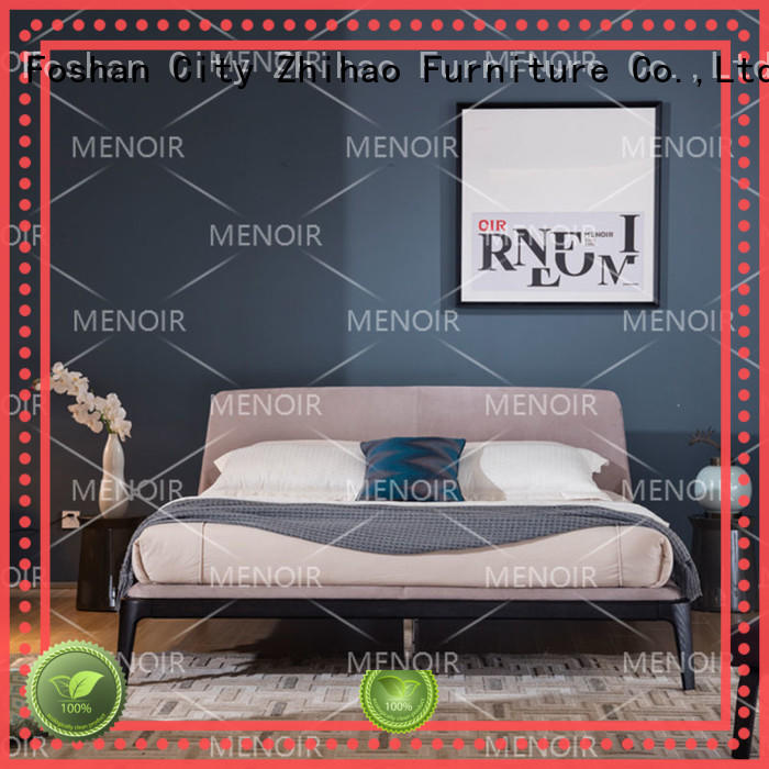 Menoir hot selling leather king size bed directly sale for bedroom